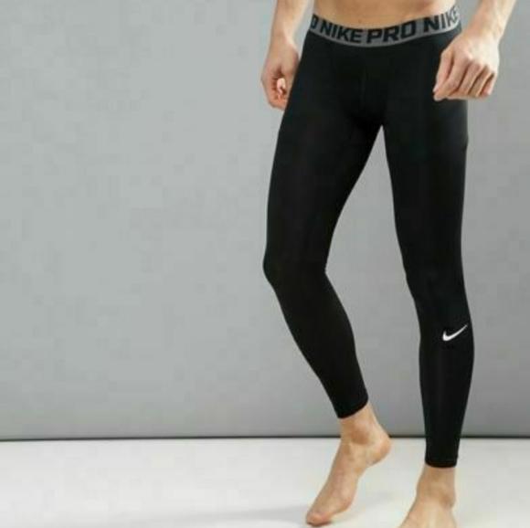 Men's Nike Pro Compression Tights Dri Fit Black